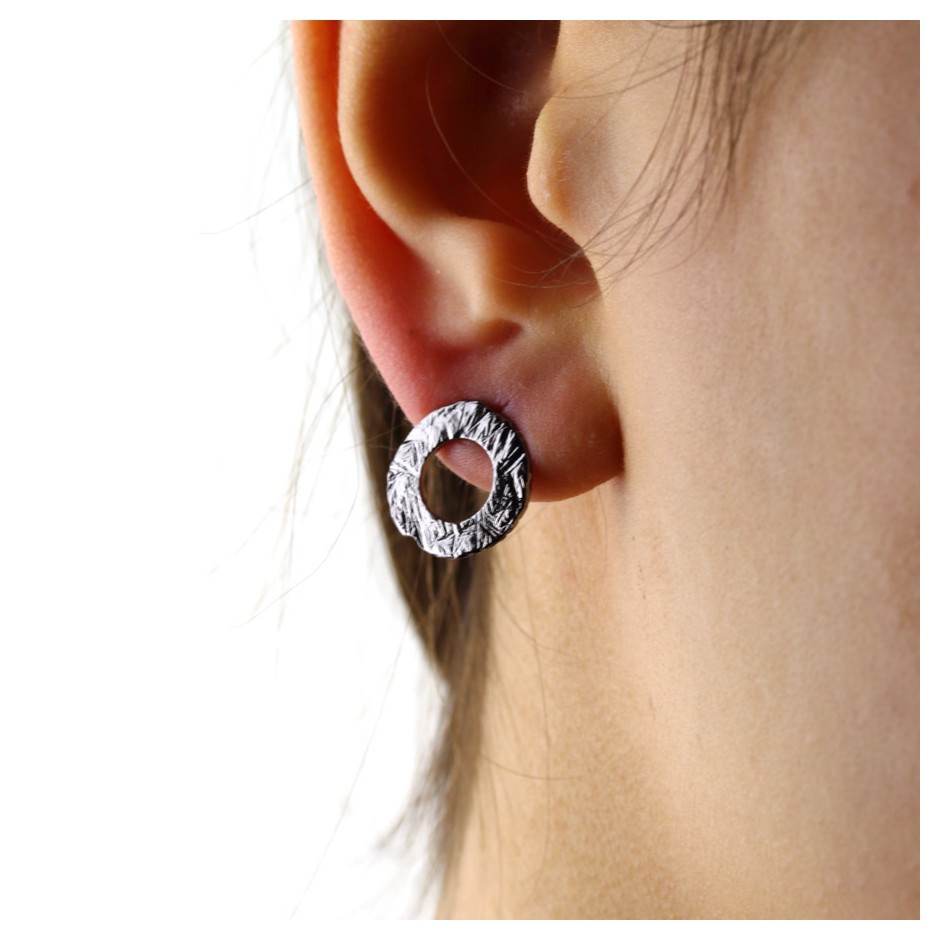 Barbara Uderzo 34D - Earrings - Ottone - Brass with galvanic finish in white or black rhodium