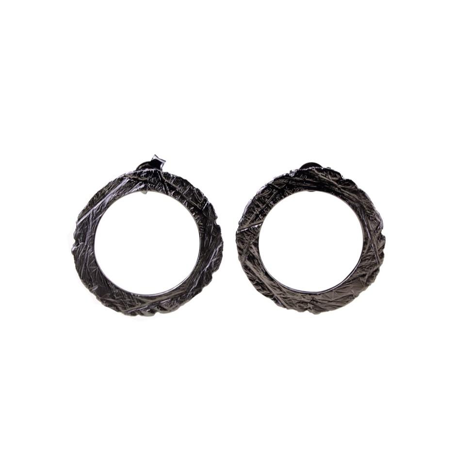 Barbara Uderzo 36A - Earrings - Ottone - Brass with galvanic finish in white or black rhodium