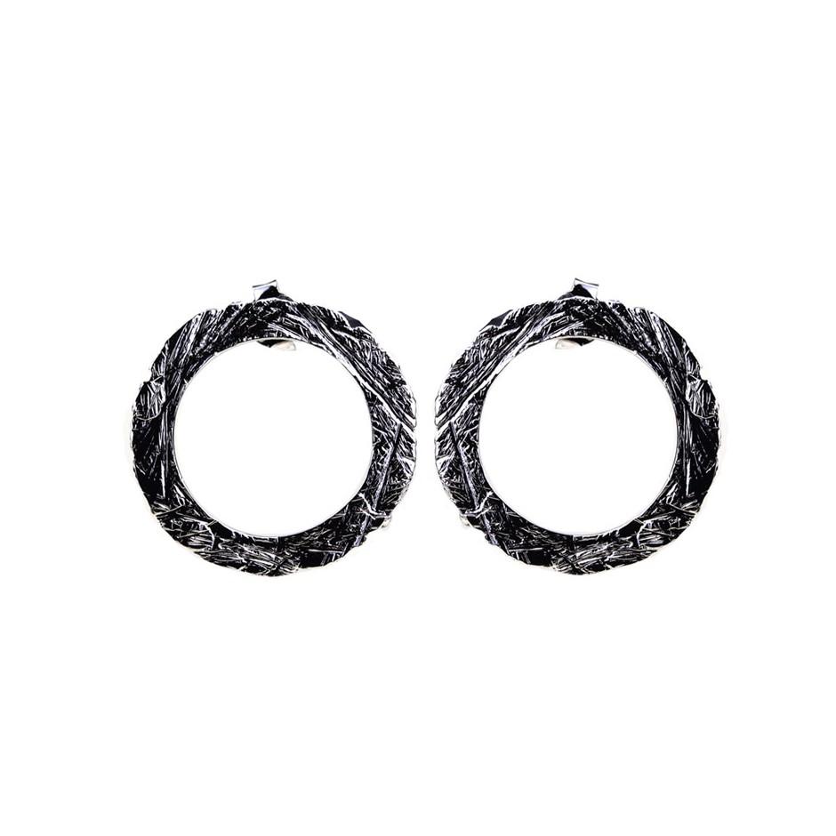 Barbara Uderzo 36B - Earrings - Ottone - Brass with galvanic finish in white or black rhodium