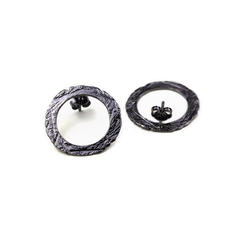 Barbara Uderzo 36C - Earrings - Ottone - Brass with galvanic finish in white or black rhodium