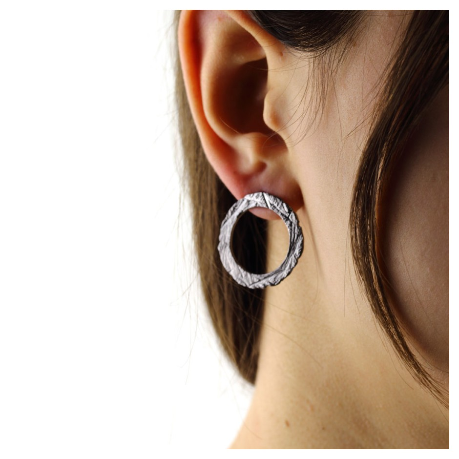 Barbara Uderzo 36D - Earrings - Ottone - Brass with galvanic finish in white or black rhodium