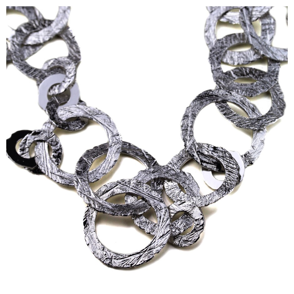 Barbara Uderzo 37B - Necklace - Ottone - Brass, galvanic finish in white rhodium
