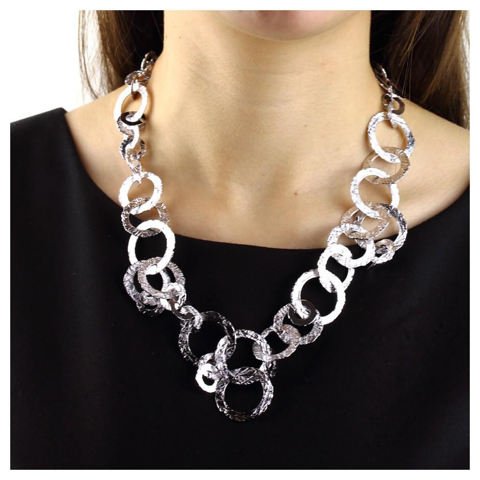 Barbara Uderzo 37E - Necklace - Ottone - Brass, galvanic finish in white rhodium