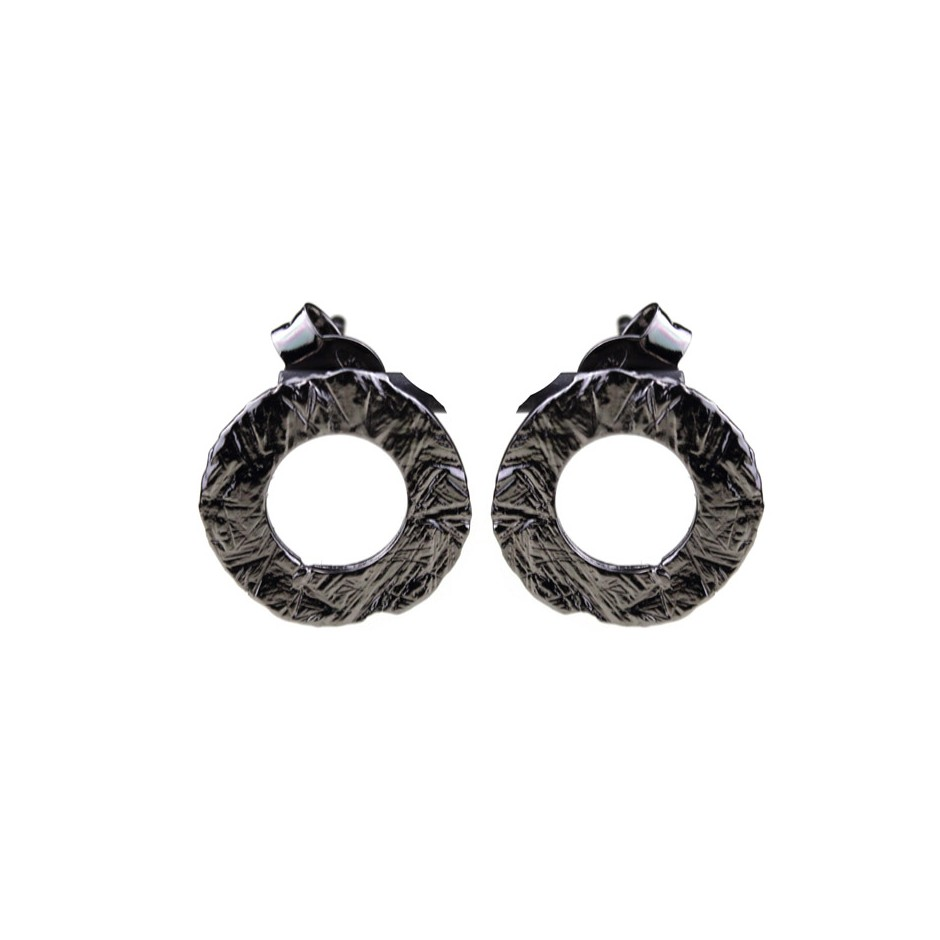 Barbara Uderzo 34A - Earrings - Ottone - Brass with galvanic finish in white or black rhodium