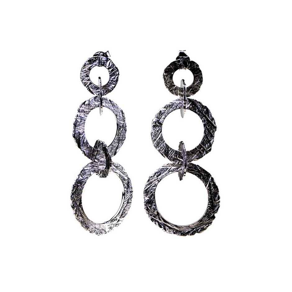Barbara Uderzo 29C - Earrings - Ottone - Brass with galvanic finish in white or black rhodium