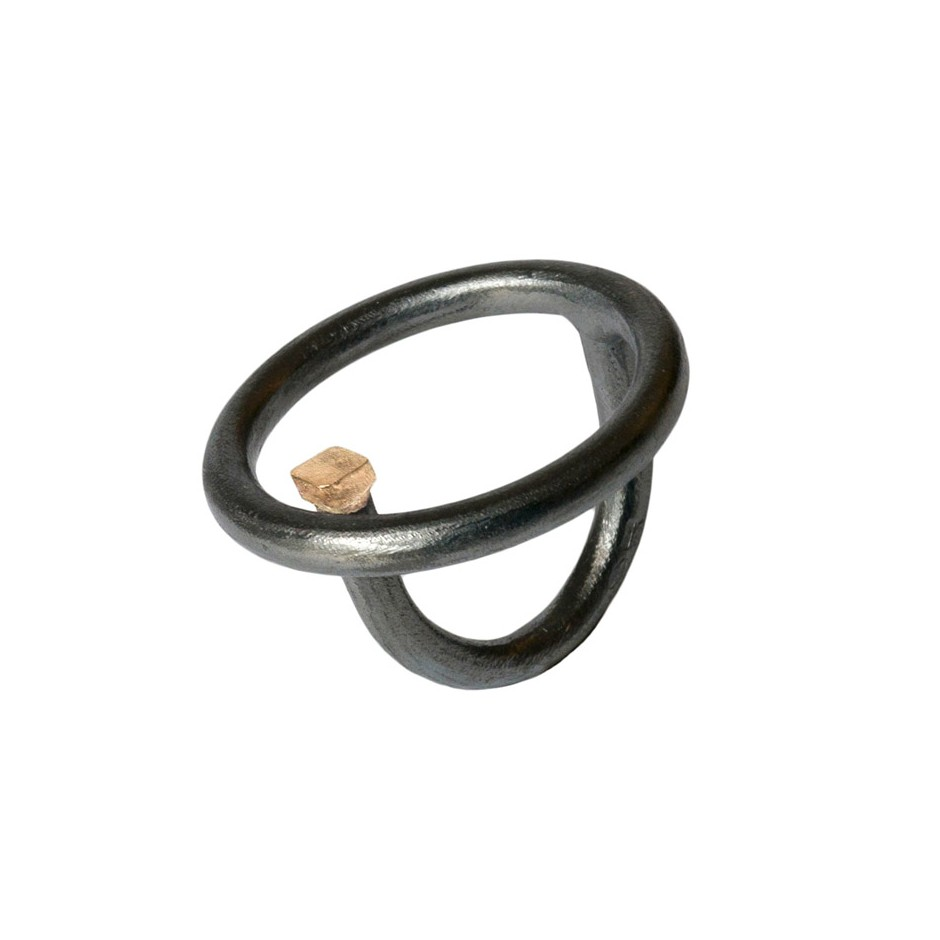 Laura Forte 04A - Ring - Objective - Oxidized silver and gold