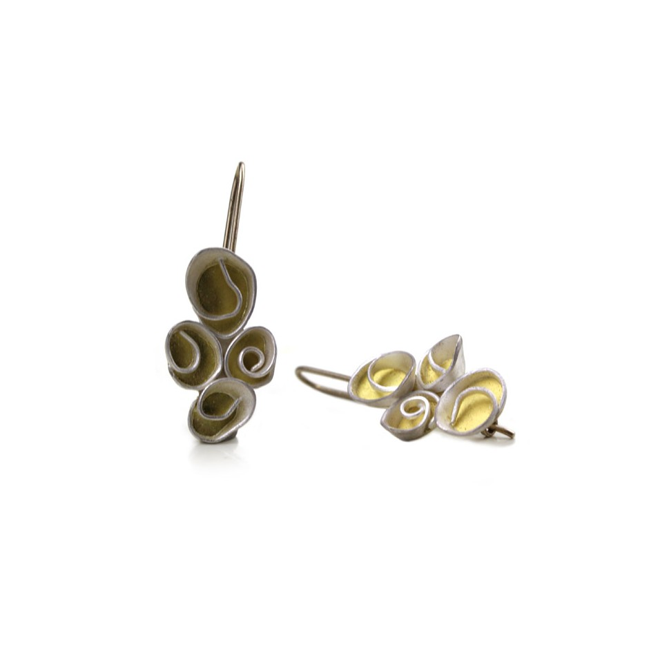 Elisabetta Dupré 45A - Earrings made of silver, gold, white gold wire