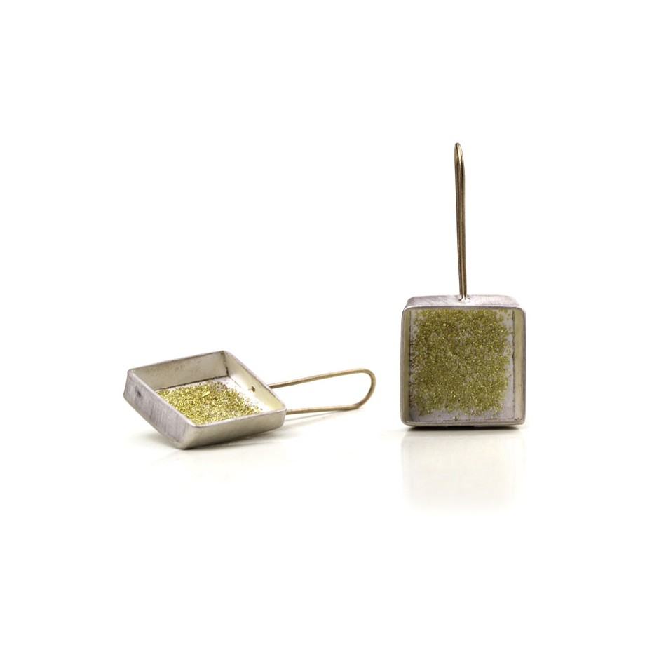 Elisabetta Dupré 46A - Earrings made of silver and gold