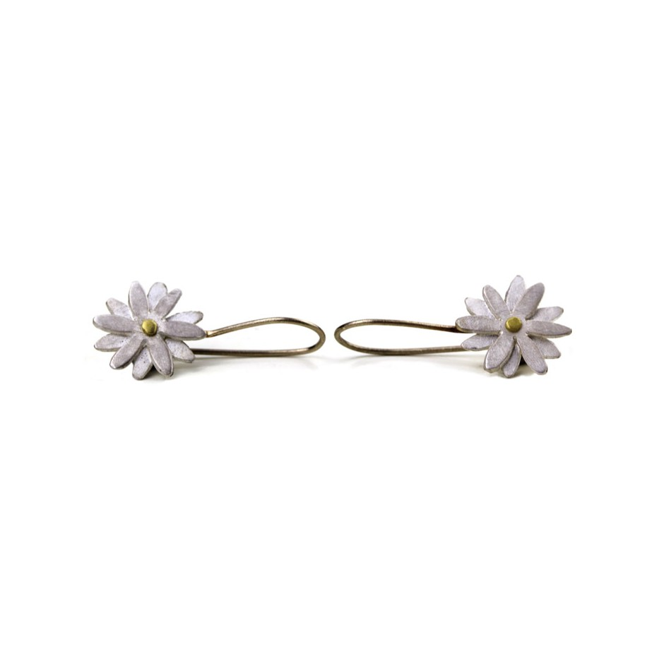 Elisabetta Dupré 49A - Earrings made of silver, gold, white gold wire