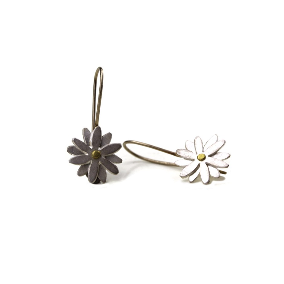 Elisabetta Dupré 49B - Earrings made of silver, gold, white gold wire