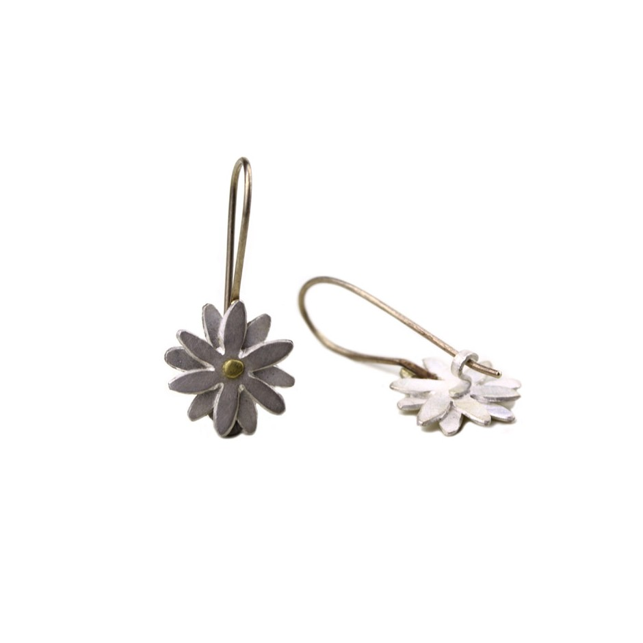 Elisabetta Dupré 49C - Earrings made of silver, gold, white gold wire