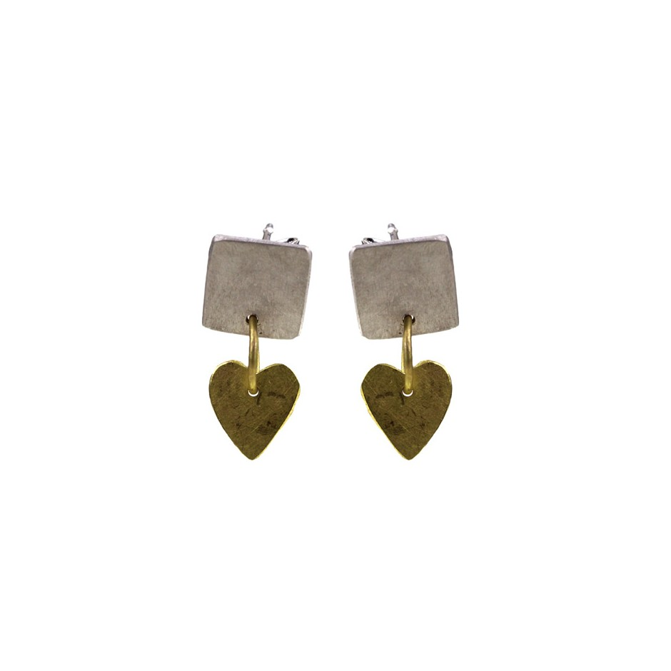 Elisabetta Dupré 50A - Earrings made of silver and gold