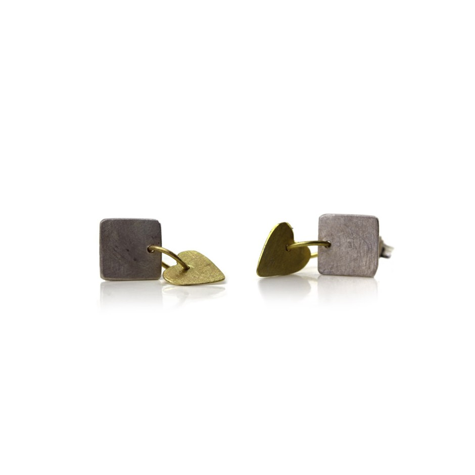Elisabetta Dupré 50B - Earrings made of silver and gold