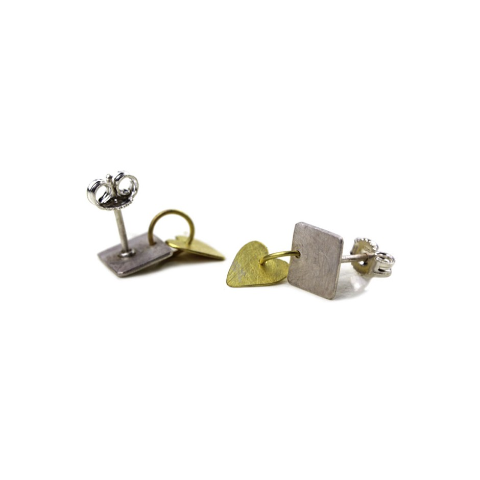 Elisabetta Dupré 50C - Earrings made of silver and gold