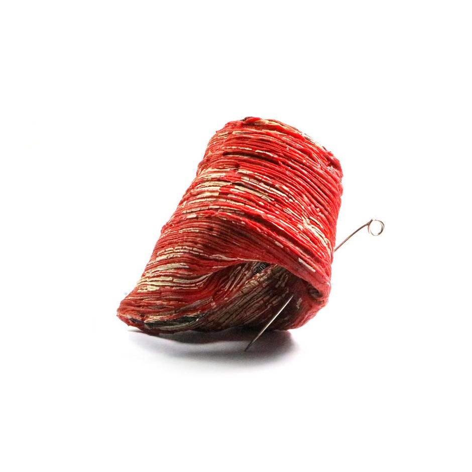 Nassrin Vessalian 03A - Brooch - Wounds - latex, acrylic resin, plant fibers an steel wire