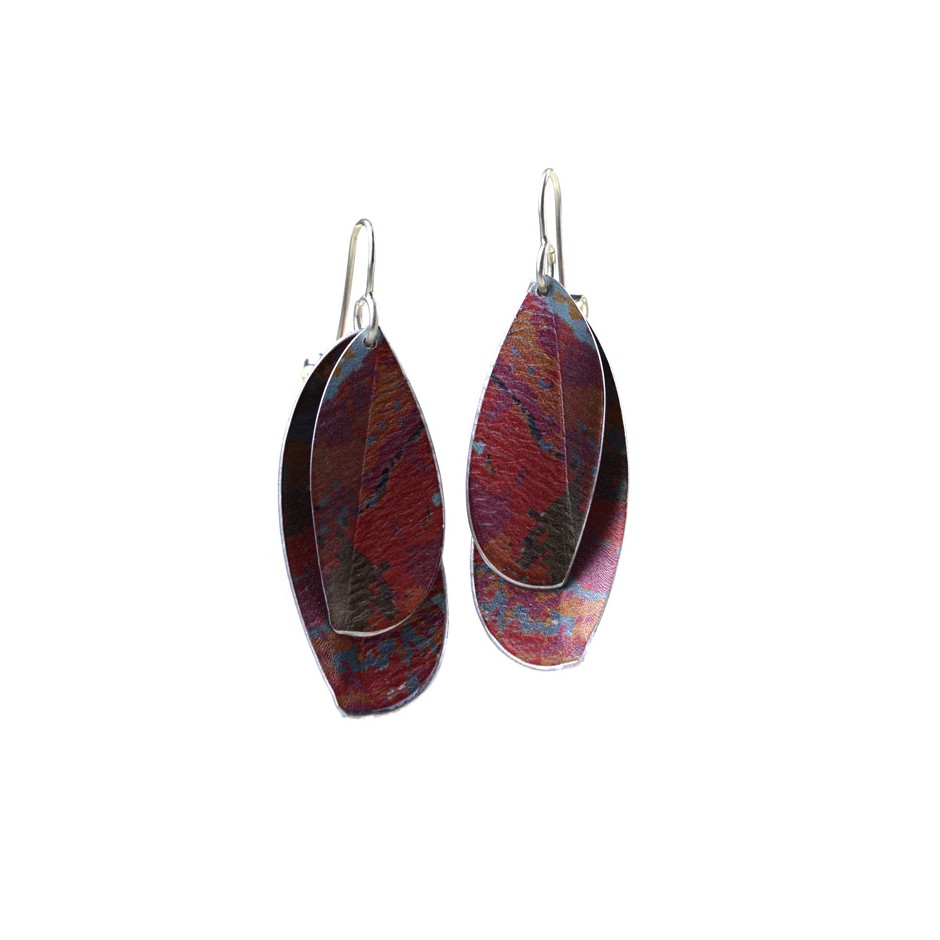 Jane Adam 16A - Earrings - Anodized aluminum and silver