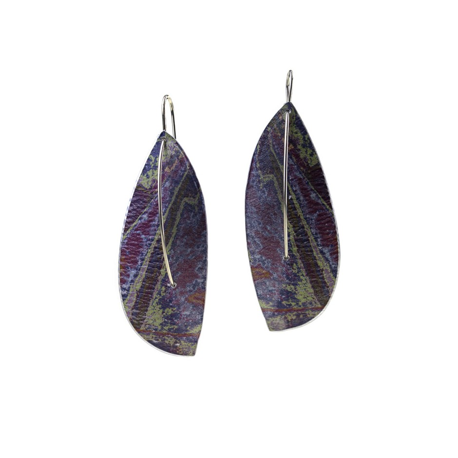 Jane Adam 19A - Earrings - Anodized aluminum and silver