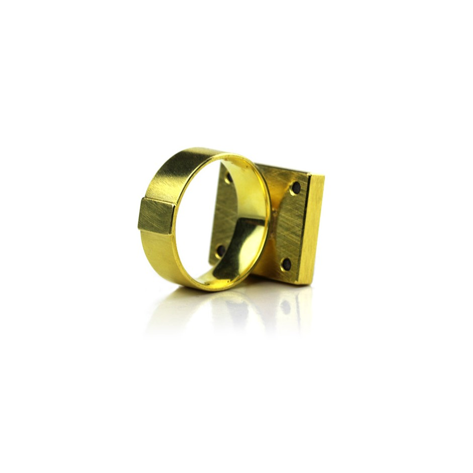Michael Becker 12C - Ring - Yellow gold and uvarovite