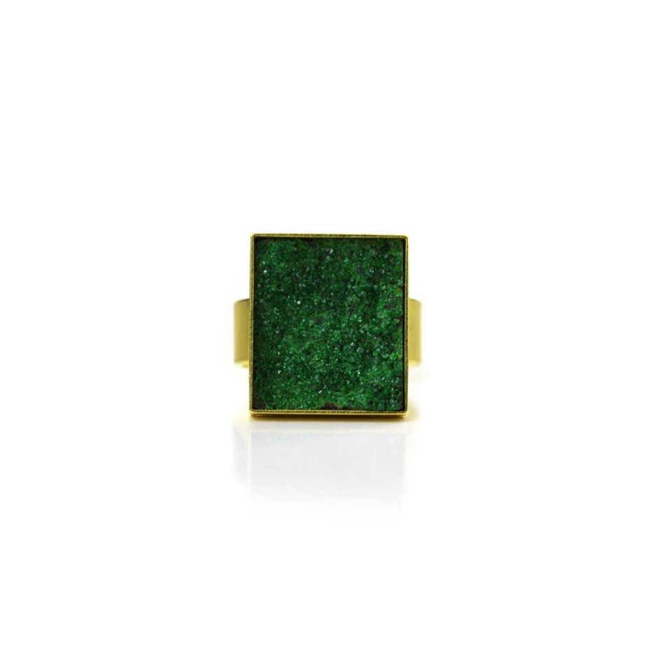 Michael Becker 12D - Ring - Yellow gold and uvarovite