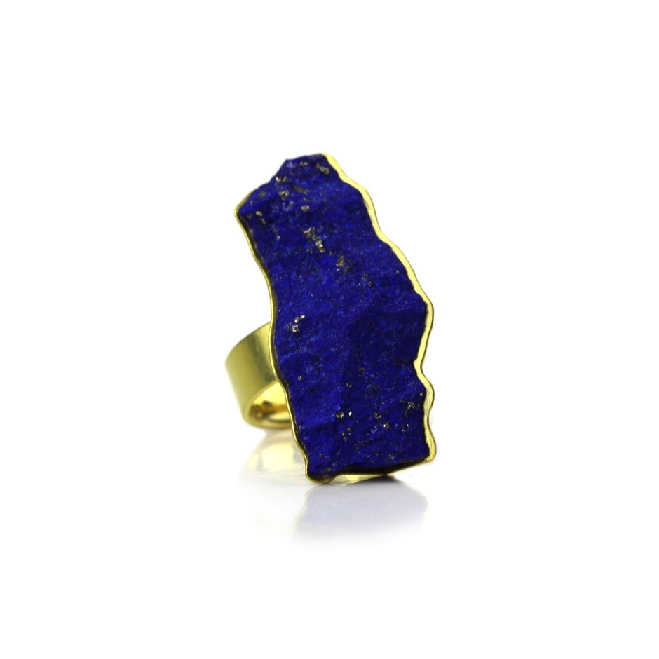 Michael Becker 13A - Ring - Yellow gold and lapislazzuli