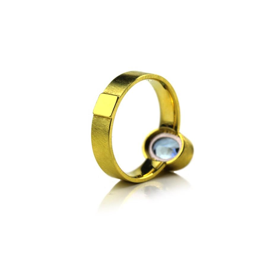 Michael Becker 14C - Ring - Yellow gold and aquamarine