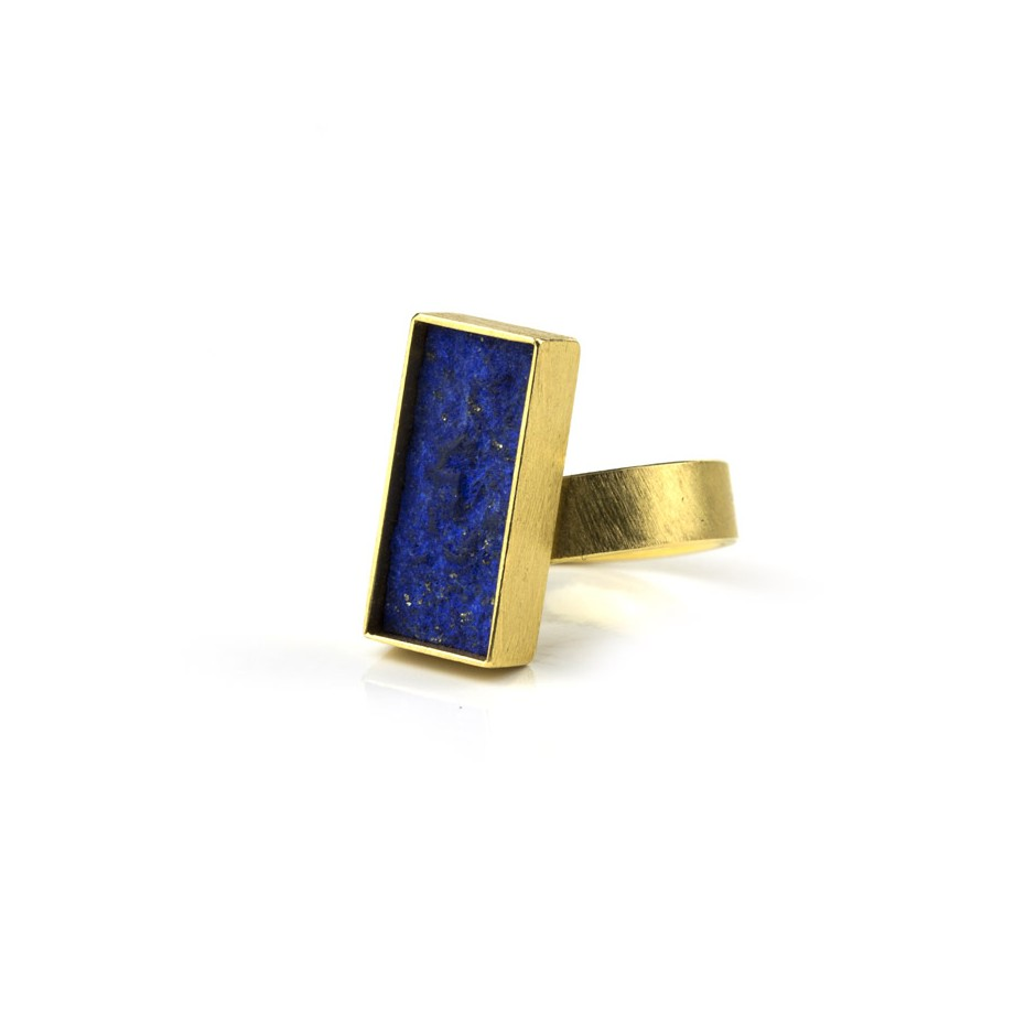 Michael Becker 07A - Ring - Yellow gold and lapislazzuli
