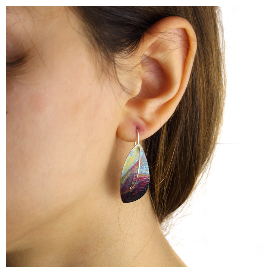 Jane Adam 18D - Earrings - Anodized aluminum