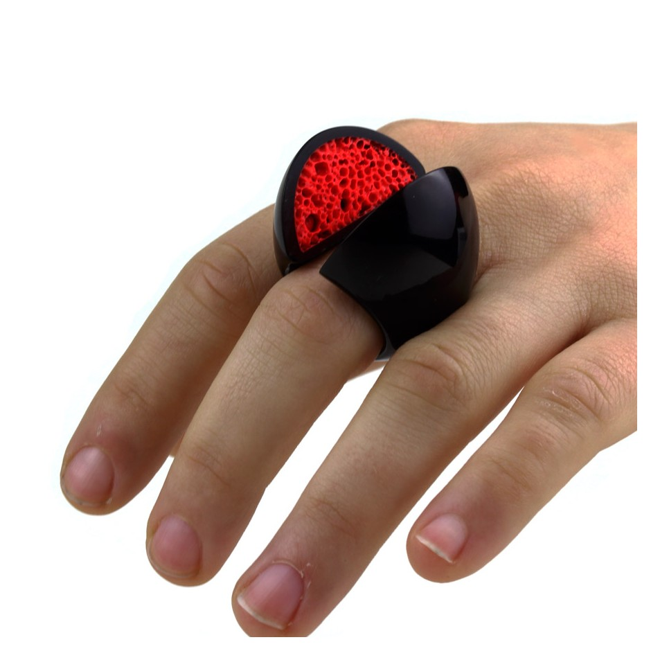 Guido Angeletti 10D - Design - Black and red resin