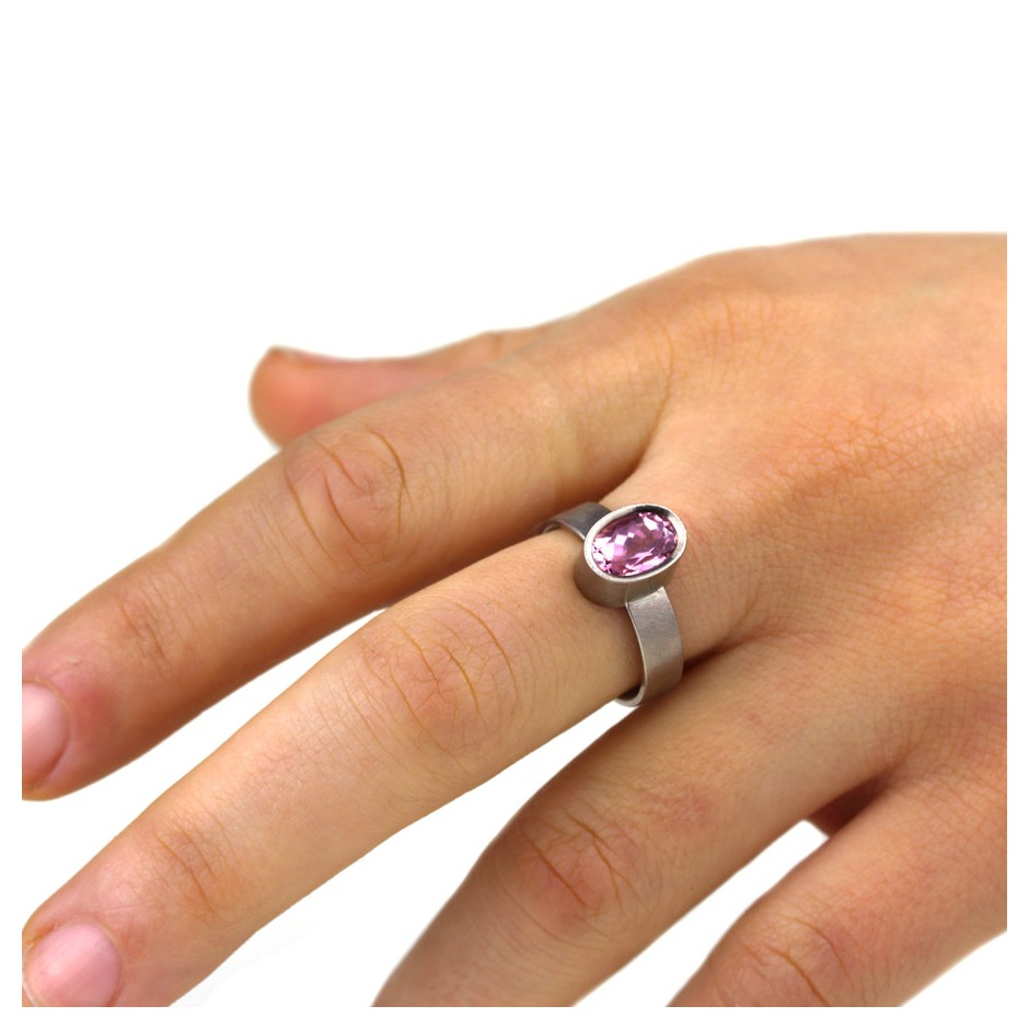 Michael Becker 16D - Ring - White gold and pink tourmaline