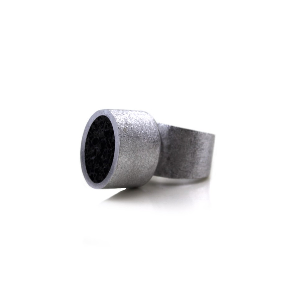 Guido Angeletti 21B - Ring - Aluminum with black resin