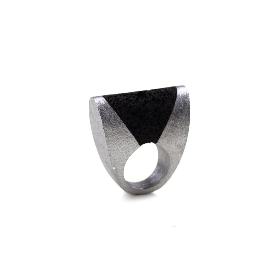 Guido Angeletti 23A - Ring - Aluminum with black resin