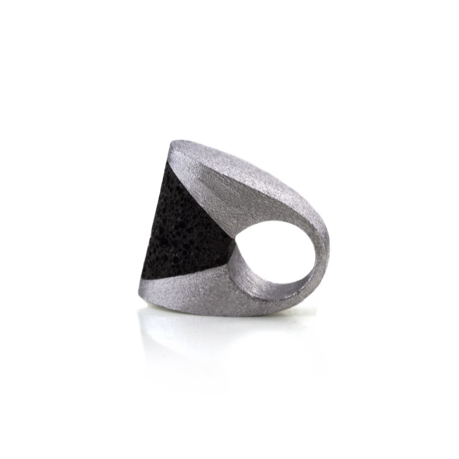 Guido Angeletti 23B - Ring - Aluminum with black resin