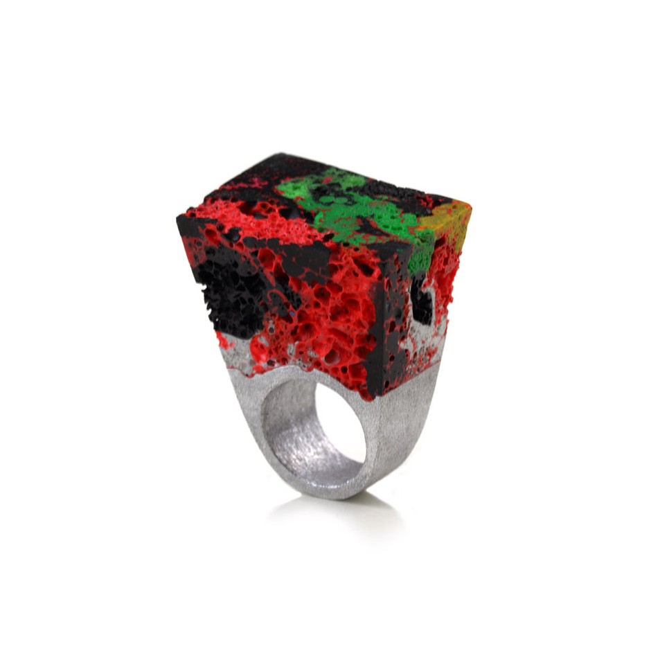 Guido Angeletti 24A - Ring - Aluminum and resin