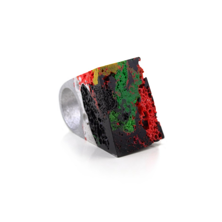 Guido Angeletti 24C - Ring - Aluminum and resin