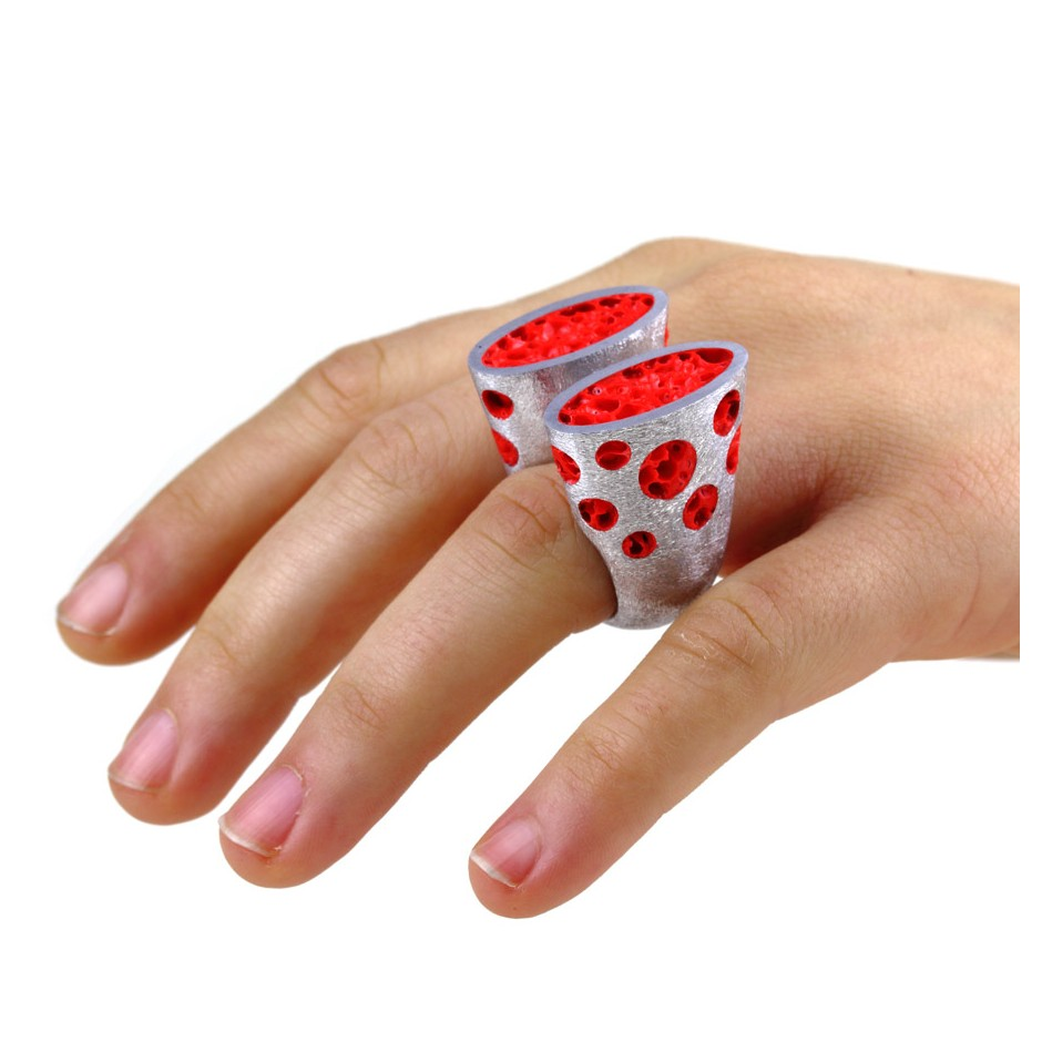 Guido Angeletti 26D - Ring - Aluminum with red resin