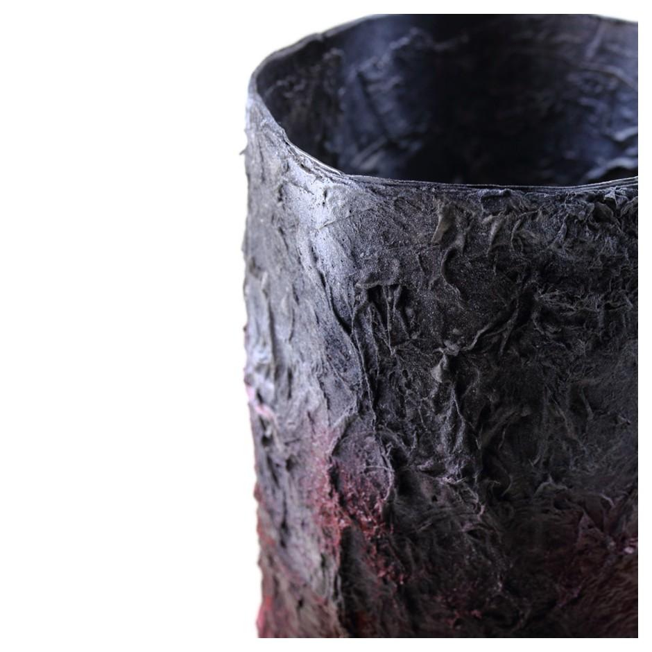 Rita Marcangelo 18VC - Vase - Paper mache, acrylics