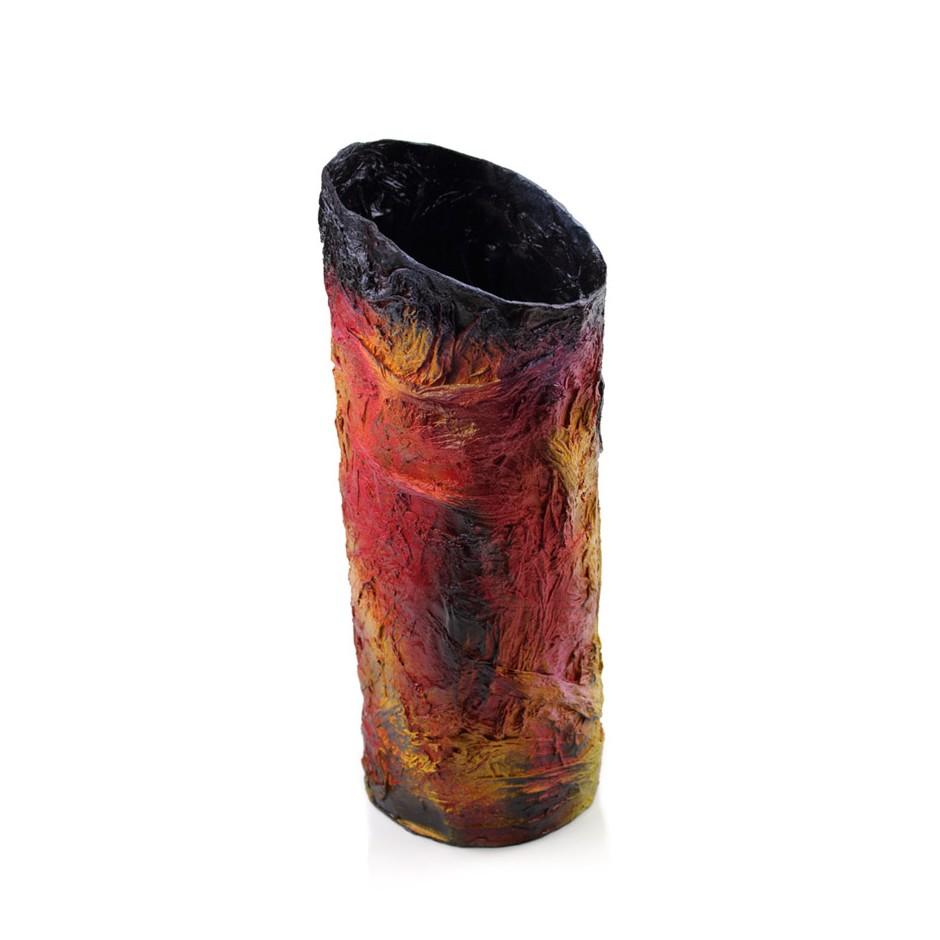 Rita Marcangelo 17VB - Vase - Paper mache, acrylics
