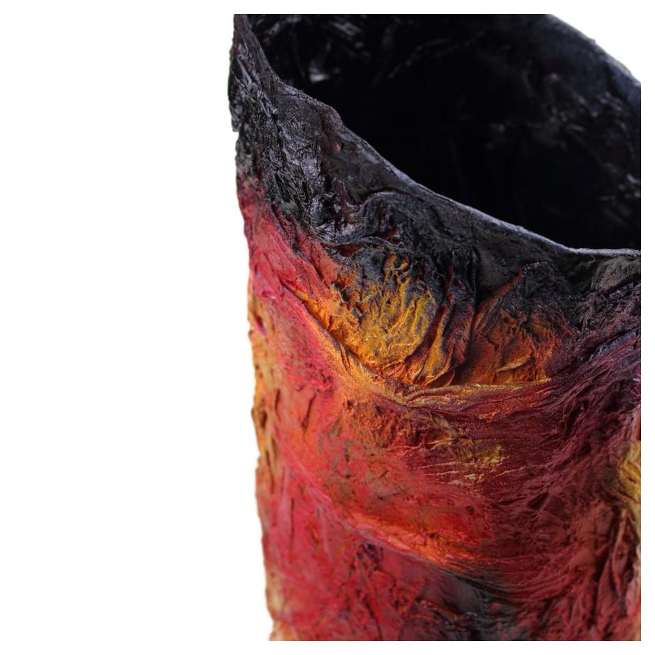 Rita Marcangelo 17VD - Vase - Paper mache, acrylics