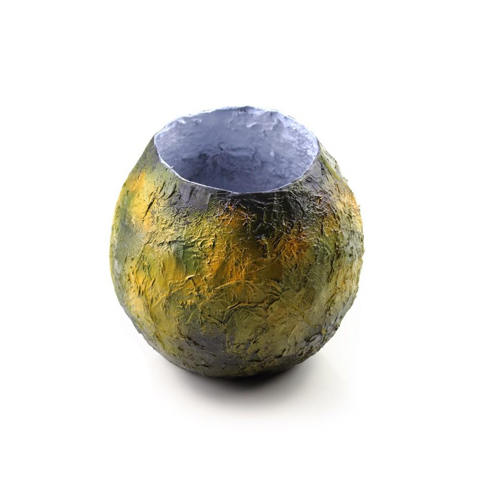 Rita Marcangelo 15VB - Vase - Paper mache, acrylics