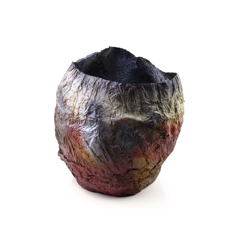 Rita Marcangelo 14VB - Vase - Paper mache, acrylics