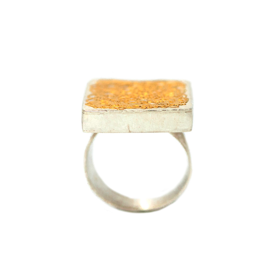 Ingrid Schmidt 01-B - Ring made by silver and gold