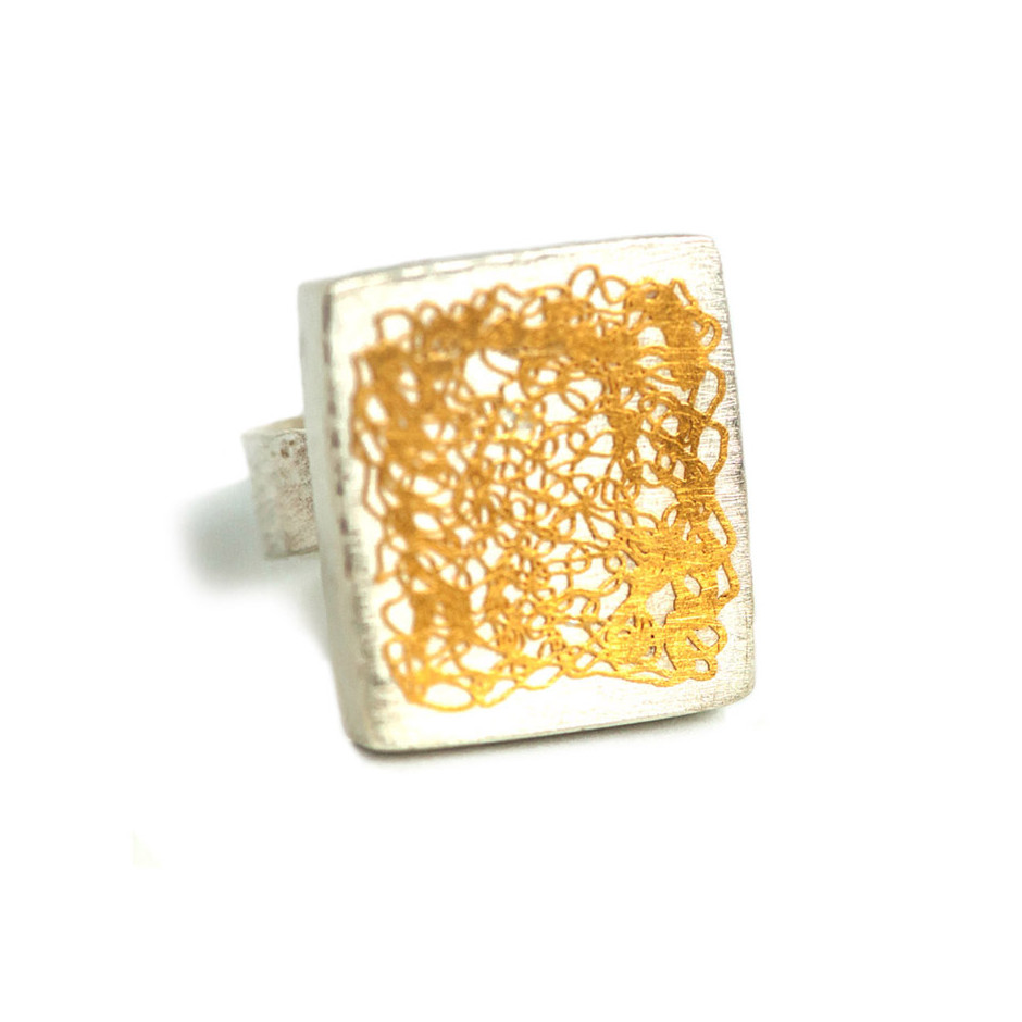 Ingrid Schmidt 01-A - Ring made by silver and gold