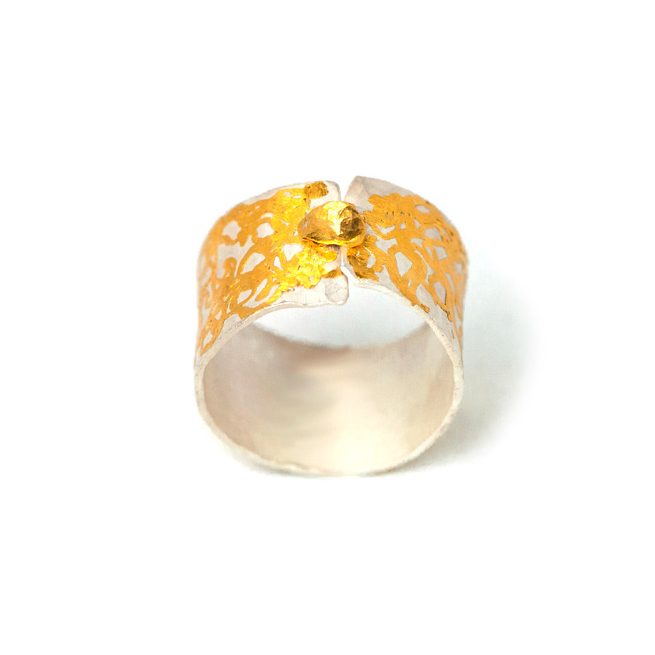 Ingrid Schmidt 02-A - Ring made by silver and gold