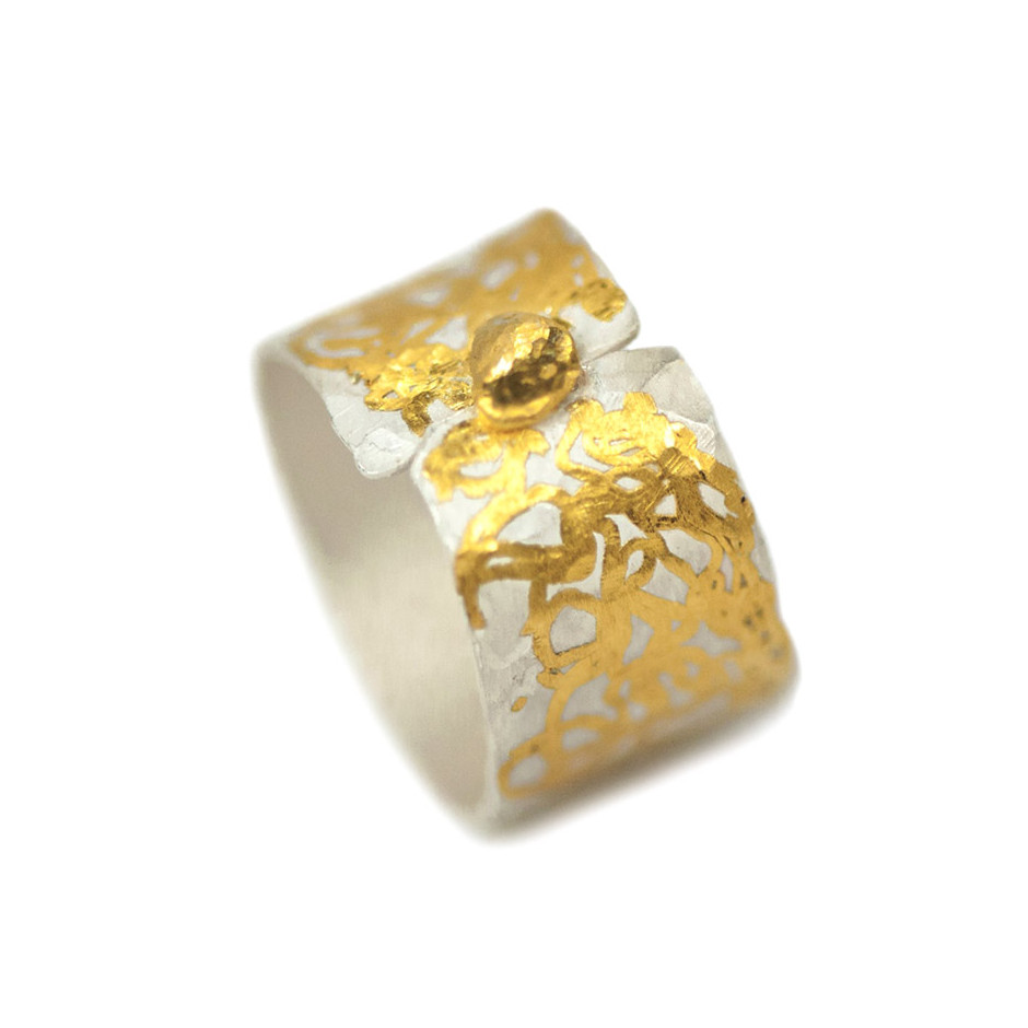 Ingrid Schmidt 02-B - Ring made by silver and gold