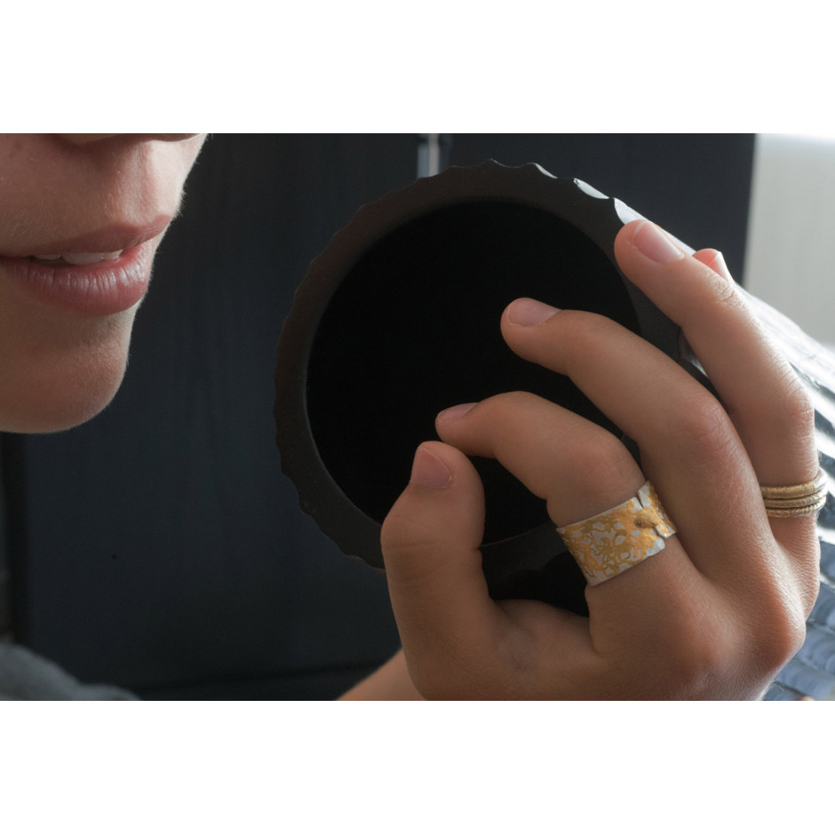 Ingrid Schmidt 02-C - Ring made by silver and gold