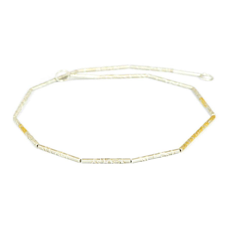 Ingrid Schmidt 03A - Necklace - Silver and gold