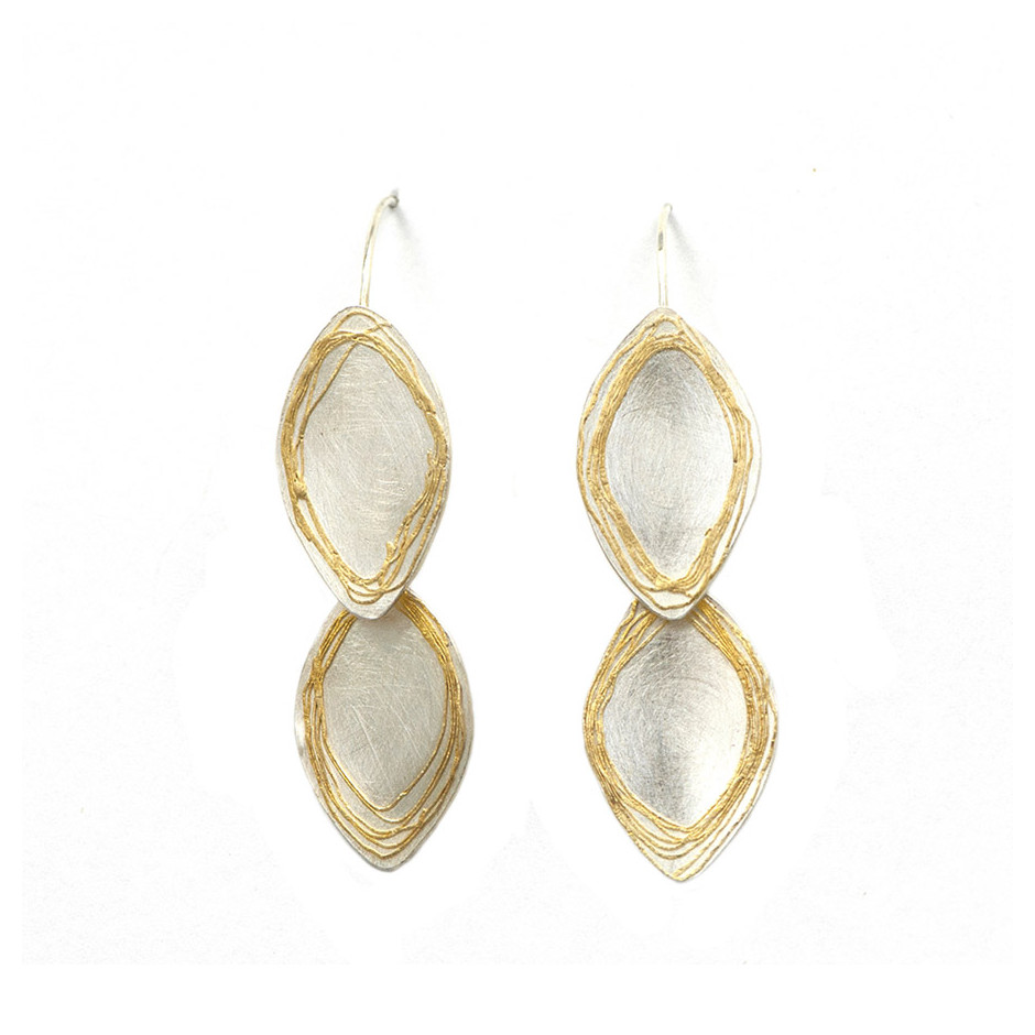 Ingrid Schmidt 06A - Earrings - Gold and Silver