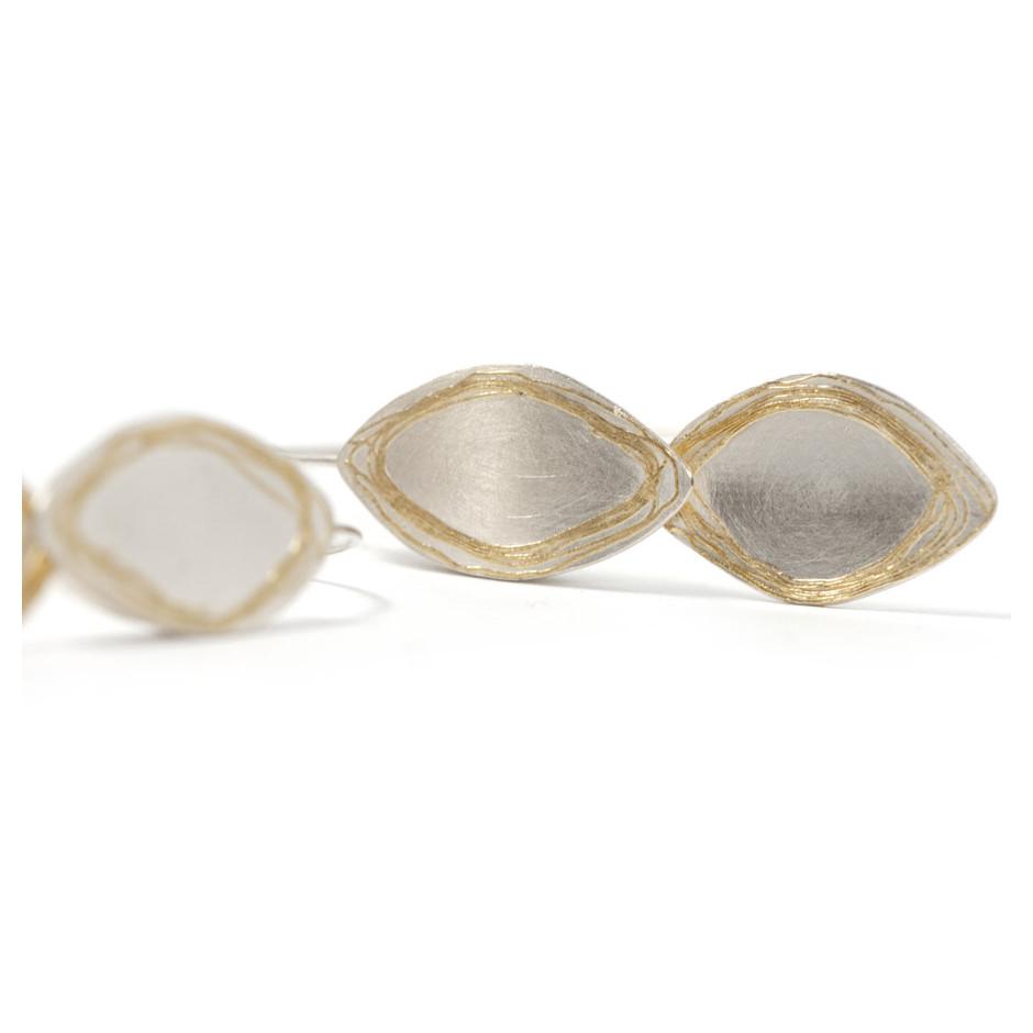 Ingrid Schmidt 06B - Earrings - Gold and Silver